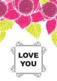 De liefde die u hebt gekaard Royalty-vrije Stock Afbeelding