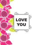 De liefde die u hebt gekaard Royalty-vrije Stock Afbeeldingen