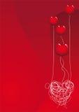 De liefde is een ballon Stock Foto