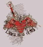 De liefde is een drug stock illustratie