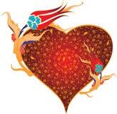 De liefde en de tulpen van het hart stock illustratie