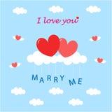 De liefde en huwt me Stock Foto's