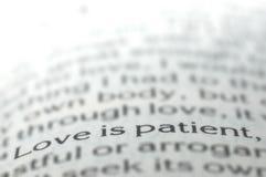 De liefde is geduldig Stock Foto's