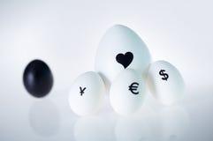 De liefde is groter dan geld Royalty-vrije Stock Afbeelding
