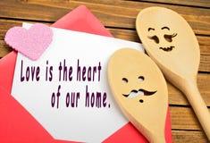 De liefde is het hart van ons huis Stock Foto's