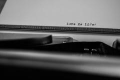 De liefde is het leven Royalty-vrije Stock Foto's