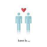 De liefde is… roze teller op witte achtergrond royalty-vrije illustratie