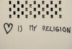 De liefde is mijn godsdienst royalty-vrije stock foto