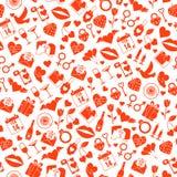 De Liefde naadloos patroon van de valentijnskaartendag Stock Afbeeldingen