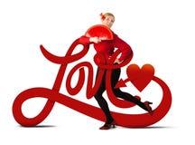 De liefde is rond allen Stock Afbeeldingen