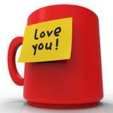 De liefde u Bericht vertegenwoordigt Medelevende Hartstocht en Berichten het 3d Teruggeven vector illustratie