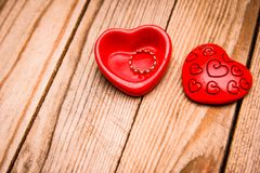 De liefde van de de dagvakantie van gelukkig Valentine en de mannelijke achtergrond van het bandkader stock foto's