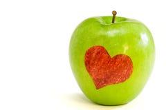 De liefde van de appel Stock Foto's