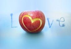 De liefde van de appel Stock Afbeeldingen