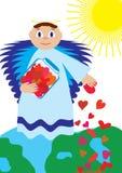 De liefde van de de engelenzeug van de liefde voor helemaal over de Wereld Stock Foto