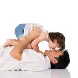 De liefde van de dochter Stock Foto's