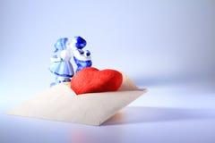 De Liefde van de envelop Stock Afbeelding