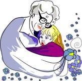 De liefde van de grote oma royalty-vrije illustratie