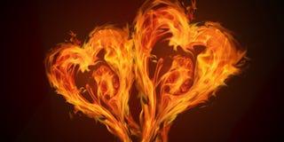 De Liefde van de hartenbrand vector illustratie