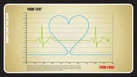 De liefde van de hartslag Stock Foto's