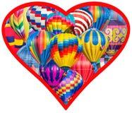 De Liefde van de hete Luchtballon Stock Foto