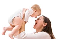 De liefde van de moeder Stock Foto