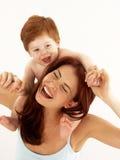 De liefde van de moeder. Royalty-vrije Stock Afbeeldingen