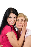 De liefde van de moeder en van de dochter Stock Foto's