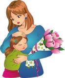 De liefde van de moeder `s Stock Fotografie