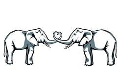De liefde van de olifant Royalty-vrije Stock Afbeelding
