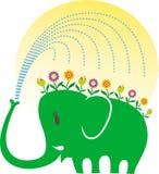 De liefde van de olifant het tuinieren Royalty-vrije Stock Afbeelding