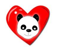 De liefde van de panda Stock Foto's