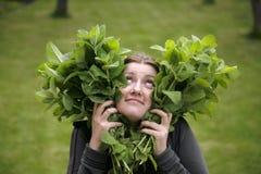De liefde van de pepermunt Stock Foto's