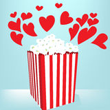 De liefde van de popcorn Royalty-vrije Stock Afbeeldingen