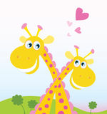 De liefde van de safari royalty-vrije illustratie