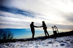 De liefde van de sneeuw Royalty-vrije Stock Foto