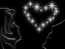 De liefde van de ster Stock Foto
