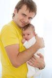 De liefde van de vader Stock Fotografie