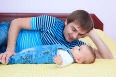 De liefde van de vader Stock Foto
