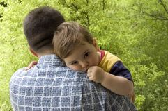 De liefde van de vader Stock Foto's