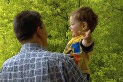 De liefde van de vader Stock Afbeelding