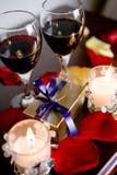 De liefde van de valentijnskaart Stock Fotografie