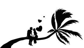 De liefde van de valentijnskaart stock afbeelding