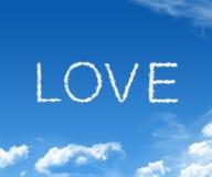 De liefde van de wolk Royalty-vrije Stock Afbeelding