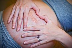 De Liefde van de zwangerschap stock fotografie