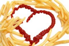 De liefde van frieten royalty-vrije stock afbeeldingen