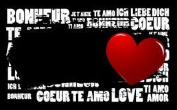 De Liefde van Grunge Stock Afbeelding