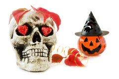 De liefde van Halloween met enge schedel Royalty-vrije Stock Afbeeldingen