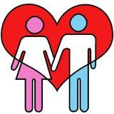 De Liefde van het badkamerspictogram Stock Afbeelding