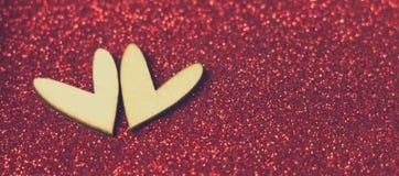 De liefde van het hartteken, Valentine-dag en liefdeconcept Stock Fotografie